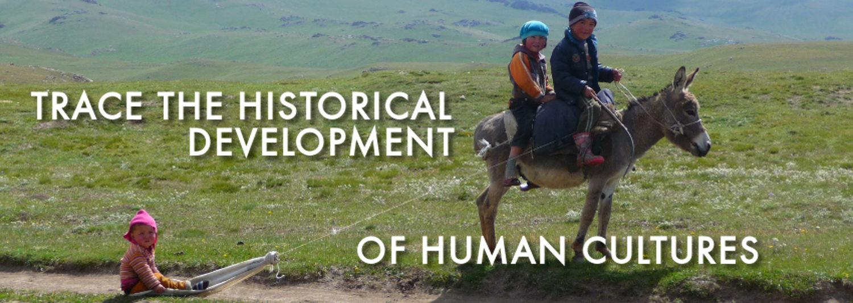 Children on donkey representing cultural development