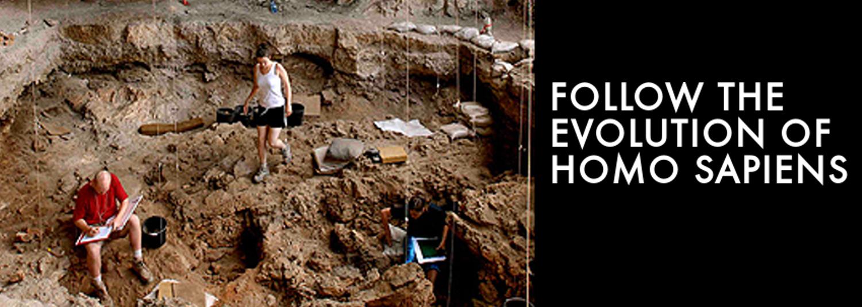 Archeological sites for human evolution